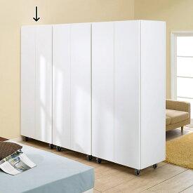 家具 収納 衣類収納 ワードローブ クローゼット 移動式間仕切りクローゼットハンガー 板扉タイプ・ハンガー1段 LR0052