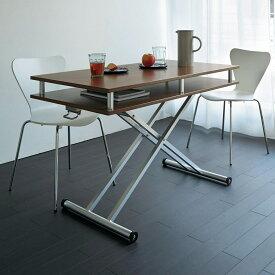 家具 収納 テーブル 机 昇降式テーブル 棚付き昇降式テーブル 幅120cm LR0213