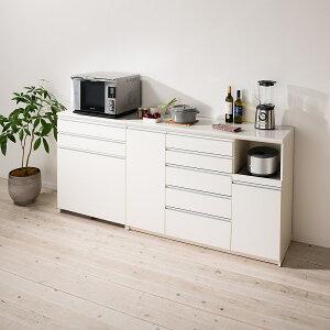 家具 収納 キッチン収納 食器棚 レンジ台 レンジラック キッチンラック 家電が使いやすいハイカウンター奥行50cm キッチンカウンター高さ101cm幅80cm/パモウナVQ-800K 下台 LR0532