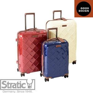 (Mサイズ 4輪/65L/3.43kg)Stratic(ストラティック)/「Leather & More」日本限定版 ハードスーツケース 中型(3-9902-65)|キャリーケース・キャリーバッグ NV3310