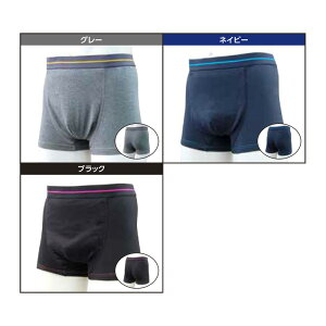 失禁・尿漏れ用下着 鉄仮面スマートボクサーパンツ 男性用3色組 SA0022