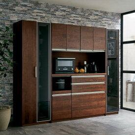 家具 収納 キッチン収納 食器棚 キッチンストッカー 食品ストッカー Rhone/ローヌ キッチンシリーズ ガラスキャビネット 幅40cm H87620