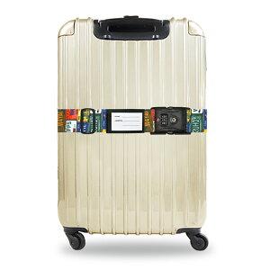TSAロック付きスーツケースベルト 転写柄(アメリカ旅行の必需品) NV3562
