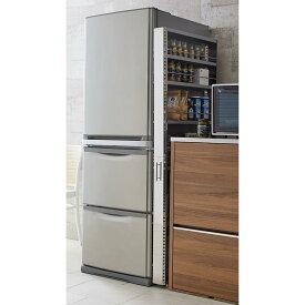 家具 収納 キッチン収納 食器棚 キッチンストッカー 食品ストッカー ステンレス製キッチンすき間収納ワゴン ハイタイプ(高さ159cm) 幅10cm奥行60.5cm H04804