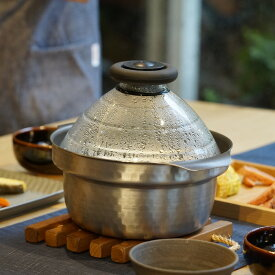 キッチン 家電 鍋 調理器具 土鍋 HARIO/ハリオ フタがガラスのIH対応ご飯釜 雪平 WX0745