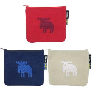 バッグ 靴 アクセサリー 財布 ケース ポーチ moz(モズ)/帆布ホケットティシュポーチ 3色セット|エルク NV1615