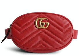Gucci グッチ GG マーモントベルト バッグ マットレス ハイビスカス レッド GG Marmont Belt Bag Matelasse Hibiscus Red