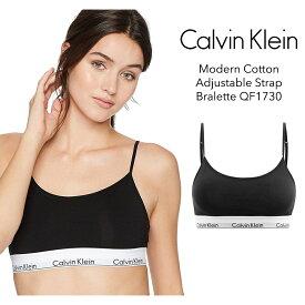 Calvin Klein カルバン・クライン レディース モダンコットン アジャスタブルストラップ ブラレット ブラック Modern Cotton Adjustable Strap Bralette