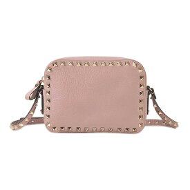 Valentino Garavani ヴァレンティノ ロックスタッズ グラム カメラバッグ ピンク Rockstud Camera Leather Cross-Body Bag Pink