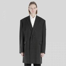 Balenciaga バレンシアガ ブラックウォッシュドダブルブレストコート Black Washed Double Breasted Coat