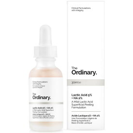 The Ordinary ジオーディナリー 乳酸5% スパーフィシャル ピーリング フォーミュレーション Lactic Acid 5% + HA 30ml