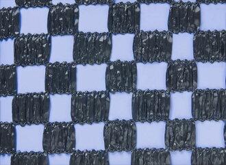 다이오화성 체크 무늬 차광 넷흑사이즈( 약) 2 m×50 m차광율 약 50%