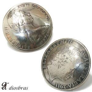 コンチョ ニュージーランドコイン オーストラリアコイン リアルコイン コンチョ ネイティブ コイン インディアン  コンチョシルバー925コンチョ ナバホ 財布 ウォレット メ