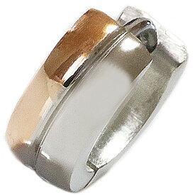 ステンレス フープピアス シルバー 金属アレルギー対応 メタル素材 ゴールド 金 シンプル 小さめ フープ ループ リング 輪っか ピアス メンズ アクセサリー レディース 中折れ式 9mm