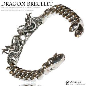 ドラゴン龍竜ブレスレットクロウ爪チェーンブレスレット髑髏骸骨ボーンプレートチェーンシルバーブレスレットシルバーアクセサリーシルバーアクセサリーメンズシルバーバングルブレスレットバングルシルバー925メンズアクセサリー