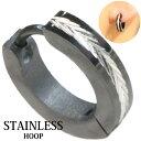 ステンレス フープピアス シルバー 金属アレルギー対応 メタル素材 シンプル 小さめ フープ ループ リング 輪っか ピアス アクセサリー レディース メンズ 中折れ式 13mm