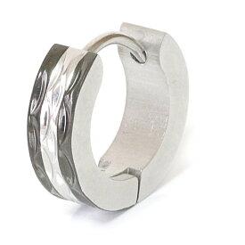 ステンレス フープピアス シルバー 金属アレルギー対応 メタル素材 シンプル 小さめ フープ ループ リング 輪っか ピアス メンズ アクセサリー レディース 中折れ式 12mm