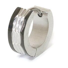 ステンレス フープピアス シルバー 金属アレルギー対応 メタル素材 シンプル 小さめ フープ ループ リング 輪っか ピアス アクセサリー レディース メンズ 中折れ式 12mm