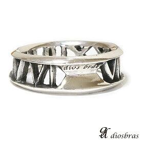 【アウトレットセール】【diosbras-ディオブラス】リング アトラス ローマ数字 男女ペア シルバー925 メンズ レディース 指輪 【全国送料無料】