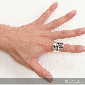 【シルバーリング】【スカルリング】【シルバーアクセサリー】スカルボーンハンドドクロスカルリングシルバーアクセサリーメンズシルバーリング指輪シルバー925メンズアクセサリー大きいサイズ送料無料