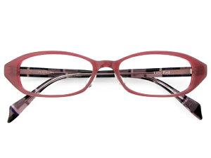 メガネ 度付き/度なし/伊達メガネ レイジーレッド(LAZY RED) 金子眼鏡 ピンクパープル オーバル スクエア セルフレーム(プラスチック) ハンドメイド メガネセット LR3114 PPL【薄型レ