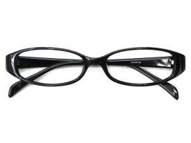 メガネ 度付き/度なし/伊達メガネ セルフレーム(プラスチック) オーバル ブラック 黒 黒ぶち メガネセット EC005-BK【金子眼鏡】【薄型レンズ付】【ケース付】【送料無料】