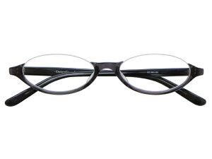 アンダーリム 逆ナイロール(セルフレーム) メガネ 度付き/度なし/伊達メガネ オーバル グレー メガネセット EC001-GY【金子眼鏡】【薄型レンズ付】【ケース付】【送料無料】