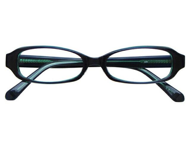 【今だけ送料無料】メガネ 度付き/度なし/伊達メガネ セルフレーム(プラスチック) オーバル スクエア グリーン メガネセット 5UP002-GRX【金子眼鏡】【薄型レンズ付】10P03Dec16