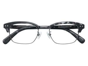 メガネ 度付き/度なし/伊達メガネ セルフレーム(プラスチック) ウェリントン ウエリントン ブラックマーブル サーモント ブロー メガネセット 9MC001-BKDE【金子眼鏡】【薄型レンズ