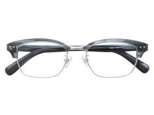 メガネ 度付き/度なし/伊達メガネ セルフレーム(プラスチック) ウェリントン ウエリントン グレー サーモント ブロー メガネセット 9MC001-GYS【金子眼鏡】【薄型レンズ付】【ケース