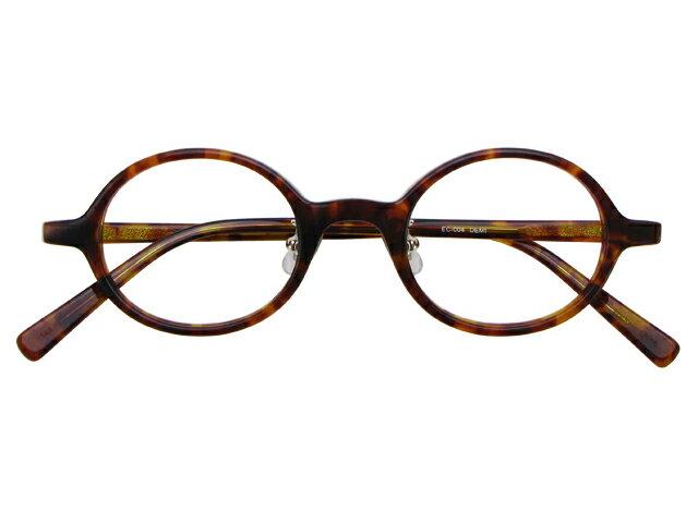 丸メガネ 丸眼鏡 丸めがね メガネ 度付き/度なし/伊達メガネ セルフレーム(プラスチック) ラウンド デミ(べっ甲色) 鼻パッド付 メガネセット EC004-DEMI【金子眼鏡】【薄型レンズ付】 10P03Dec16