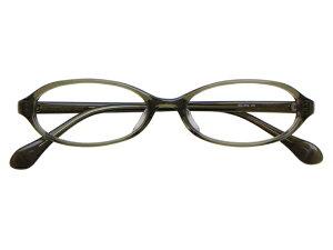 メガネ 度付き/度なし/伊達メガネ セルフレーム(プラスチック) オーバル カーキ グリーン メガネセット EC006-KH【金子眼鏡】【薄型レンズ付】【ケース付】【送料無料】