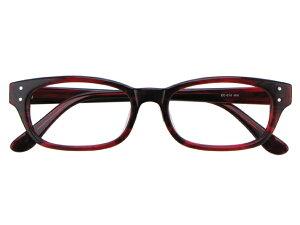 メガネ 度付き/度なし/伊達メガネ セルフレーム(プラスチック) ウェリントン ウエリントン ワインレッド メガネセット EC010-WN【金子眼鏡】【薄型レンズ付】【ケース付】【送料無料