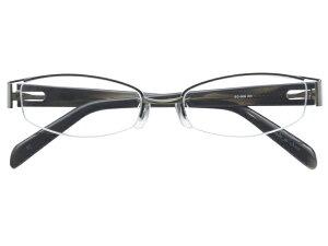 メガネ 度付き/度なし/伊達メガネ メタルフレーム スクエア カーキ バネ丁番 ナイロール メガネセット EC009-KH【金子眼鏡】【薄型レンズ付】【ケース付】【送料無料】