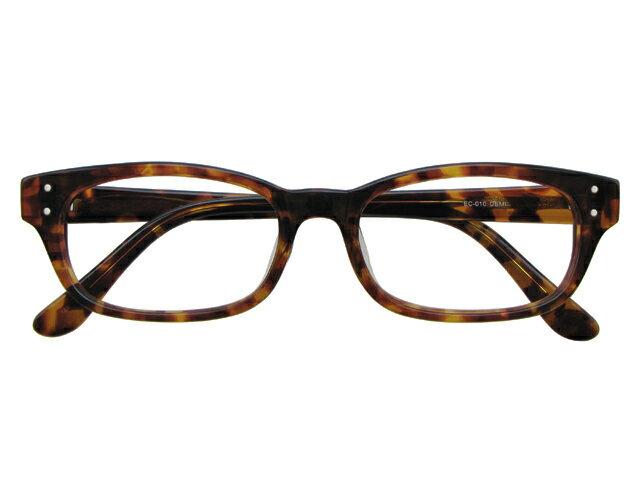 メガネ 度付き/度なし/伊達メガネ セルフレーム(プラスチック) ウェリントン ウエリントン デミ(べっ甲色) メガネセット EC010-DEMI【金子眼鏡】【薄型レンズ付】10P03Dec16