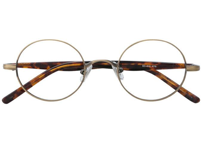 丸メガネ 丸眼鏡 丸めがね メガネ 度付き/度なし/伊達メガネ メタルフレーム ラウンド アンティークゴールド メガネセット EC013-ATG【金子眼鏡】【薄型レンズ付】10P03Dec16