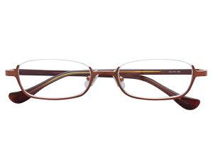 アンダーリム 逆ナイロール(メタルフレーム) メガネ 度付き/度なし/伊達メガネ スクエア ゴールド メガネセット EC014-MG【金子眼鏡】【薄型レンズ付】 【ケース付】【送料無料】