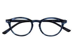 メガネ 度付き/度なし/伊達メガネ セルフレーム(プラスチック) ボストン ウェリントン ウエリントン ネイビー メガネセット EC015-NV【金子眼鏡】【薄型レンズ付】【ケース付】【送