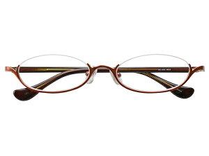 アンダーリム 逆ナイロール(メタルフレーム) メガネ 度付き/度なし/伊達メガネ オーバル ゴールド メガネセット EC002-MG【金子眼鏡】【薄型レンズ付】【ケース付】【送料無料】