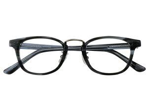 メガネ 度付き/度なし/伊達メガネ セルフレーム(プラスチック) ウェリントン ボストン マンレイ山 グレー 鼻パッド付 メガネセット EC016-GYS【金子眼鏡】【薄型レンズ付】 【ケース