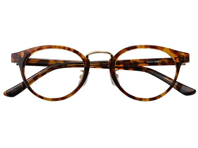 メガネ 度付き/度なし/伊達メガネ セルフレーム(プラスチック) ウェリントン ボストン マンレイ山 デミ べっ甲色 鼻パッド付 メガネセット EC017-DEMI【金子眼鏡】【薄型レンズ付】 10P03Dec16