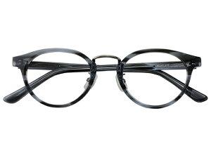 メガネ 度付き/度なし/伊達メガネ セルフレーム(プラスチック) ウェリントン ボストン マンレイ山 グレー 鼻パッド付 メガネセット EC017-GYS【金子眼鏡】【薄型レンズ付】 【ケー