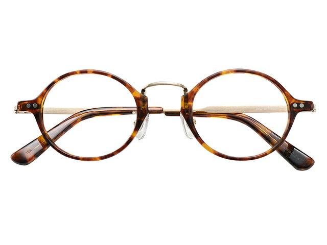 丸メガネ 丸眼鏡 丸めがね メガネ 度付き/度なし/伊達メガネ セルフレーム(プラスチック) ラウンド マンレイ山 デミ べっ甲色 鼻パッド付 メガネセット EC018-DEMI【金子眼鏡】【薄型レンズ付】10P03Dec16