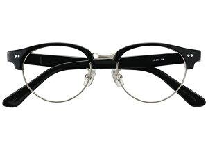メガネ 度付き/度なし/伊達メガネ セルフレーム(プラスチック) ボストン サーモント ブロー ブラック 黒 黒ぶち メガネセット EC019-BK【金子眼鏡】【薄型レンズ付】 【ケース付】【