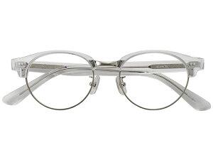 メガネ 度付き/度なし/伊達メガネ セルフレーム(プラスチック) ボストン サーモント ブロー クリア 透明 メガネセット EC019-CL【金子眼鏡】【薄型レンズ付】 【ケース付】【送料