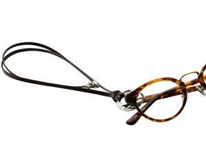 グラスホルダー メガネホルダー 眼鏡ホルダー サングラスホルダー3色 円形(サークル) 平紐(本革/レザー) お洒落な眼鏡ホルダー/老眼鏡/シニアグラス/ストラップ CIRCLE5 日本製