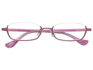 アンダーリム 逆ナイロール(メタルフレーム) メガネ 度付き/度なし/伊達メガネ スクエア ピンク メガネセット EC014-PK【金子眼鏡】【薄型レンズ付】 【ケース付】【送料無料】