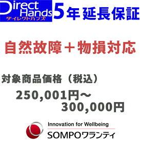 物損付5年延長保証(自然+物損)【商品代金 250,001円〜300,000円】(対象の商品と同時購入に限ります。)