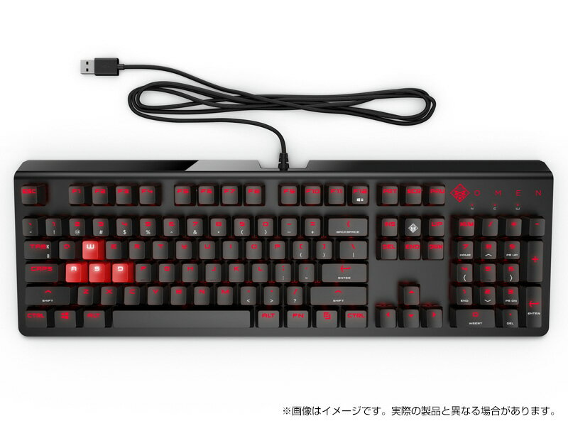 <ゲーミングアクセサリ>OMEN by HP ゲーミングキーボード 1100(1MY13AA#UUF)