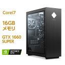 GTX 1660 Core i7 HyperX FURY DDR4 メモリ 16GB 256GB SSD PCIe規格 + 2TB HDD OMEN by HP 25L Desktop (型番:180H3…